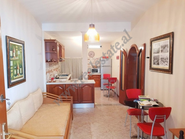 Two bedroom apartment for rent in Fortuzi street in Tirana, Albania. It is located on the ground