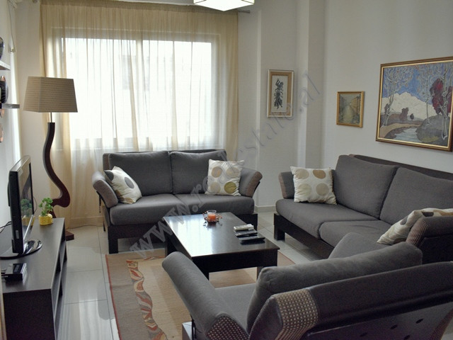 Two bedroom apartment for rent in Nikolla Jorga street in Tirana. It is located on the 4-th floor o