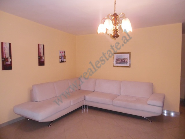 Two bedroom apartment for rent in Mine Peza street in Tirana, Albania. It is located on the 5-th fl