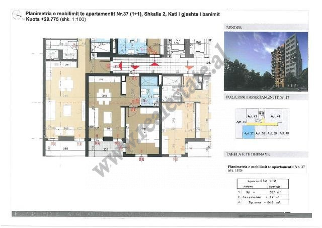 Apartments for sale in Kongresi I Manastirit street in Tirana, Albania.