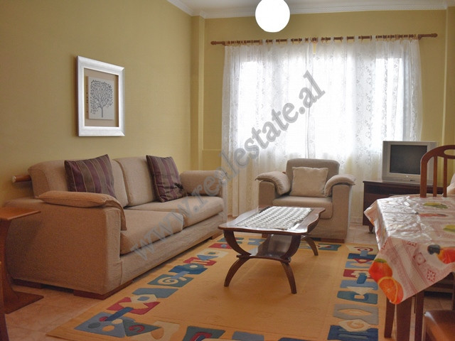 Two bedroom apartment for rent in Adem Jashari Street in Tirana. It is situated on the sixth floor