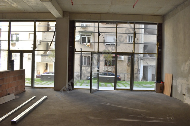 Store space for rent in Janos Hunyadi street in Tirana, Albania. It is located on the ground floor