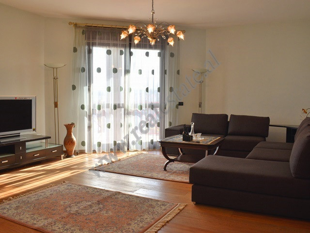 Two bedroom apartment for rent in Abdi Toptani Street near Toptani Shopping Center in Tirana.
