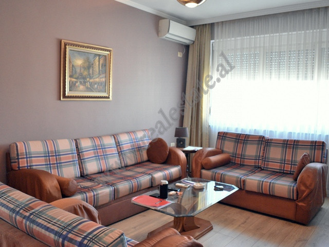 Two bedroom apartment for rent in Blloku area in Tirana, Albania. It is situated on the last sevent