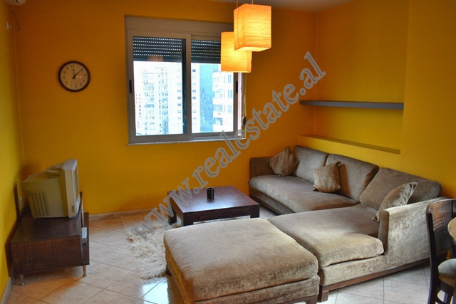 Apartament 2+1 me qera ne rrugen Reshit Petrela ne Tirane. Ndodhet ne katin e 11 te nje palla