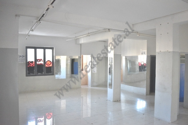 Store space for rent in Metrush Luli street in Tirana, Albania.