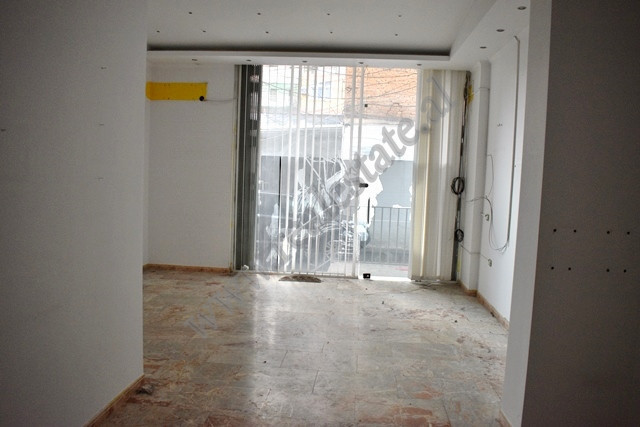 Store space for rent in Saraceve street in Tirana, Albania.