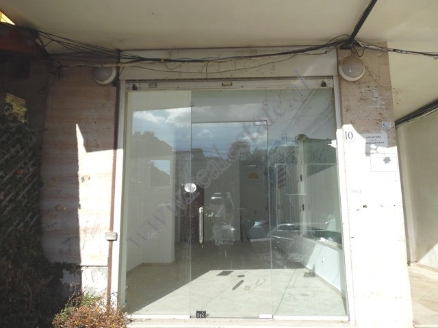 Store space for rent in Ali Visha street in Tirana, Albania. It is located on the ground floor of a