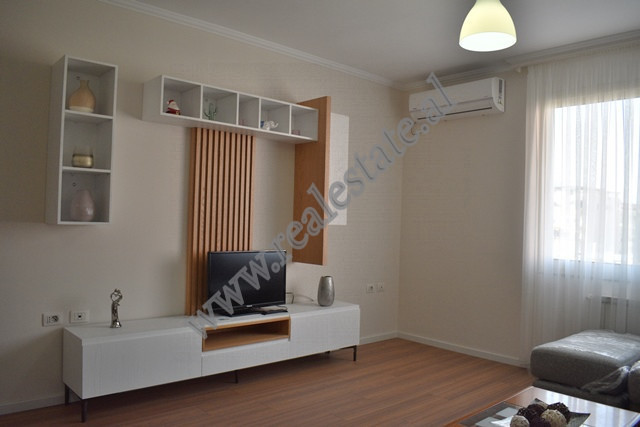Two bedroom apartment for rent in Marko Bocari Street in Tirana. The flat is situated on the sixth