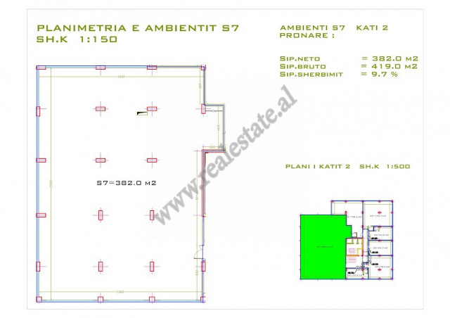 Office space for sale in Zhan Dark boulevard in Tirana, Albania.