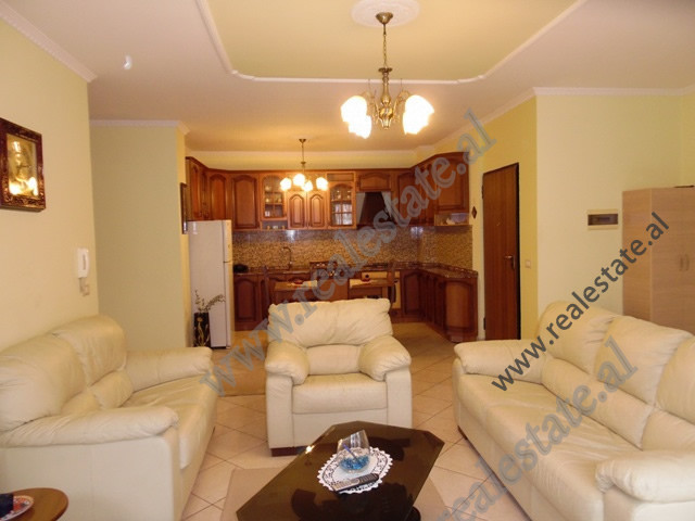 Two bedroom apartment for rent in Perlat Rexhepi street,  in Ish-Blloku area in Tirana.
