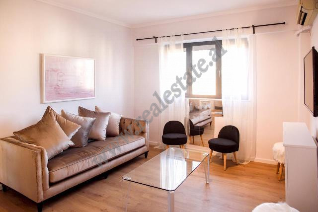 Two bedroom apartment for rent in front of Albanian Bank in Tirana, Albania.  It is located on the