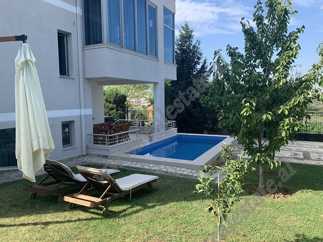 Villa for rent very close to the Artificial Lake and the Park of Tirana.  It is located in a green