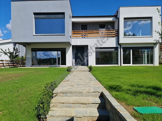 Modern villa for rent in Long Hill residence in Tirana.  The villa is just finished, with a modern