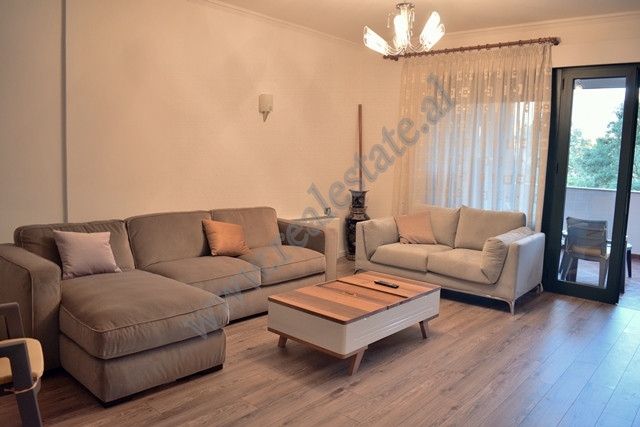 Three bedroom apartment for rent in Ibrahim Rugova street in Tirana. It is situated on the fourth