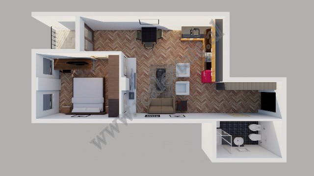 One bedroom apartment for sale close to Dry Lake in Tirana.