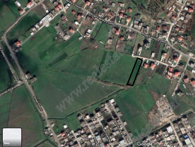 Land for sale in Fabrika e Qelqit street in Yzberisht, Tirana, Albania