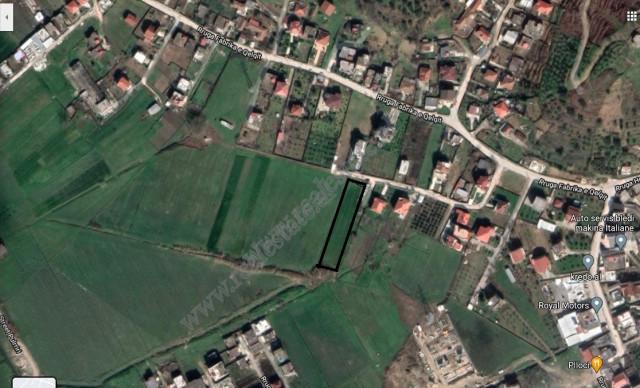 Land for sale in Fabrika e Qelqit street in Yzberisht, Tirana, Albania  It has a surface of 1000 m