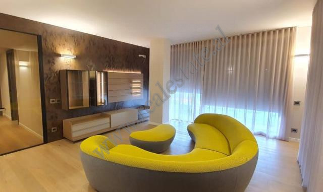 Two bedroom apartment for rent in Janos Hunyadistreet in Tirana, Albania. The apartment is si