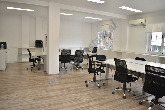 Office for rent in Mustafa Matohiti Street in Tirana. It is situated on the second floor of a new b