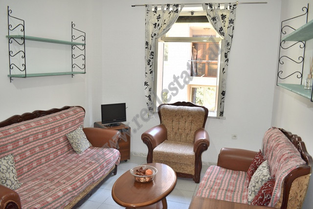 One bedroom apartment for rent near Rinia Park in Tirana, Albania.