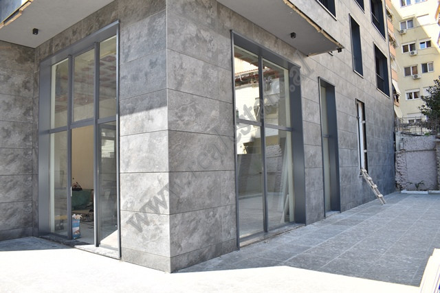 Commercial space for rent near Zhan Dark Boulevard in Tirana, Albania.