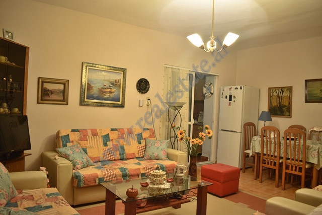 One bedroom apartment modified into two bedroom for sale in Prokop Myzeqari Street. It is pos