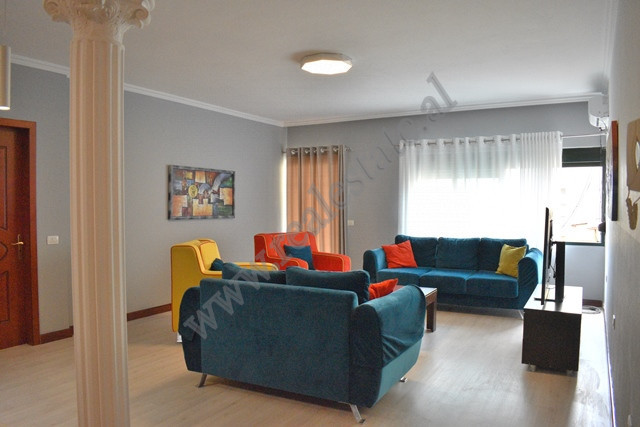 Two-bedroom apartment for rent in Him Kolli street, in Tirana. The house is placed on the fourth fl