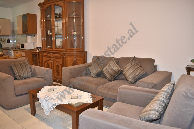 Two-bedroom apartment for rent in Haxhi Kika street in Tirana. It is placed on the 3rd floor of a n