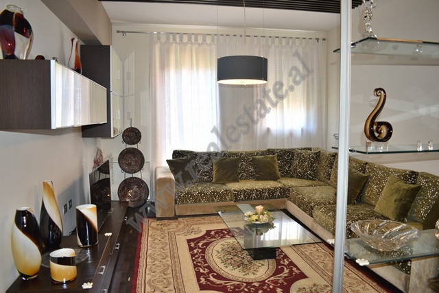 Two-bedroom apartment for rent in Xhavit Demneri street in Tirana, Albania. The building in which t