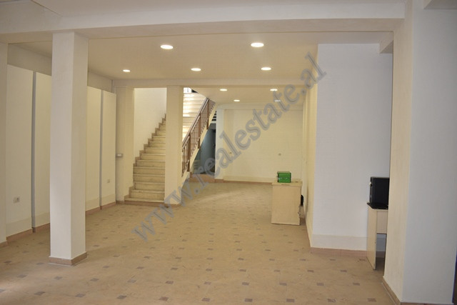 Office for rent in Perlar Rexhepi street in Tirana, Albania. It is positioned underground in a new