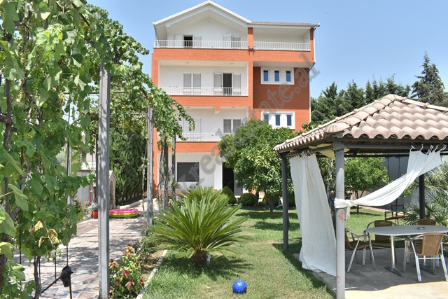 Villa for sale in Vangjel Noti street in Tirana, Albania. It is divided into 4 floors and circled b