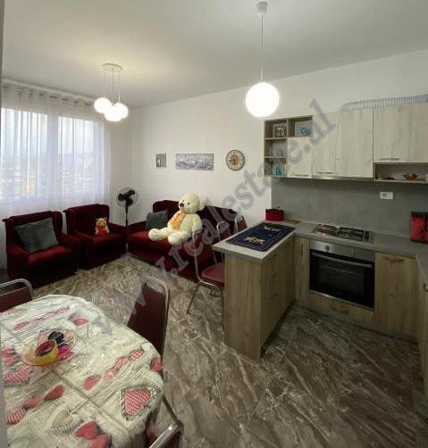 Apartment for rent near Dritan Hoxha street in Tirana, Albania. It is placed on the 10th floor of a