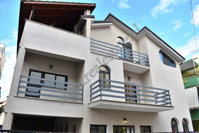 Three storey villa for rent in Prokop Mima street in Tirana, Albania. The flat has a construction p