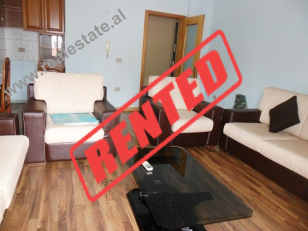 Apartment for rent in Emin Duraku Street in Tirana. The apartment is positioned on the 2nd floor of