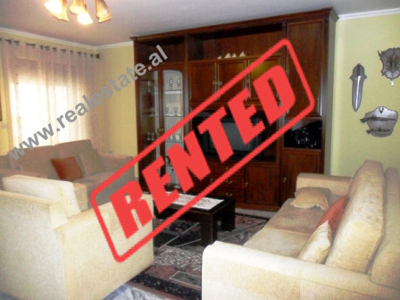 Two bedroom apartment for rent in Myslym Shyri Street in Tirana.  Although, it is situated on the