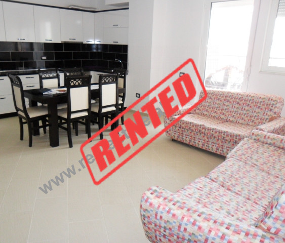 Two bedroom apartment for rent in Ali Visha Street in Tirana.  The apartment is situated on the 5-