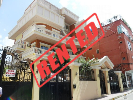 Modern villa for rent in Bilal Golemi Street in Tirana.  It is located on the side of the main str
