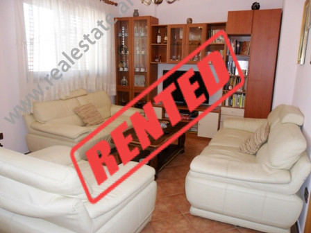 Apartment for rent in Nasi Pavllo in Tirana.  It is situated on the 8-th floor in a new building,