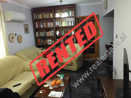 Apartment for rent in Gjin Bue Shpata Street in Tirana.  It is situated on the 2-nd floor in a bui