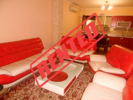 Two bedroom apartment for rent in Shyqyri Brari Street in Tirana.  The apartment is situated on th