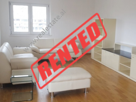 Apartment for rent in Touch of Sun residence in Tirana.  It is situated on the 4-th floor in a new