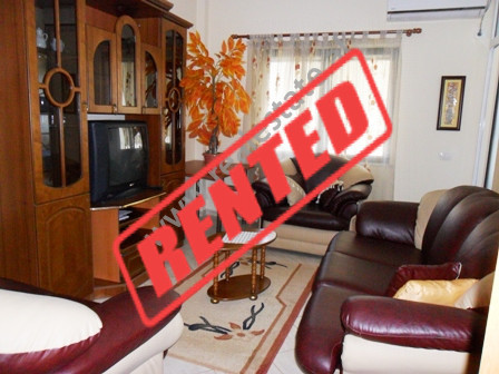 Apartment for rent close to Beder University in Tirana.  It is situated on the 12-th floor in a ne