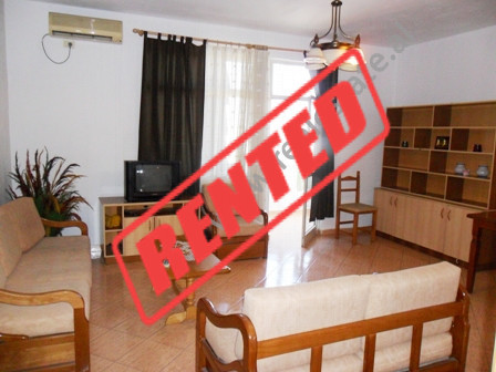 Apartment for rent in near Fortuzi Street in Tirana.  It is situated on the 12-th floor in a new b