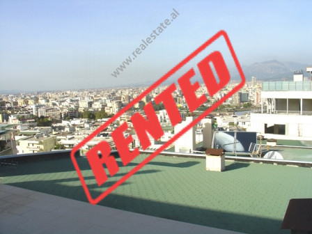 Triplex apartment for rent at Dry Lake in Tirana.  The apartment is situated on the 4-th and last