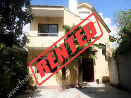 Villa for rent close to Lincoln School in Tirana.  The villa offers a total area of 330m2 where is
