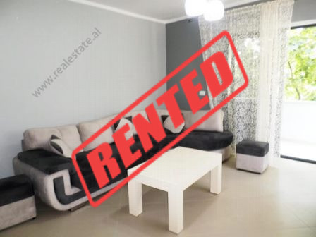 One bedroom apartment for rent close to Vasil Shanto School in Tirana.  It is situated on the 3-rd