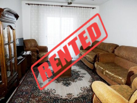 Apartment for rent close to Lapraka area in Tirana.  The apartment is situated on the 9th floor in