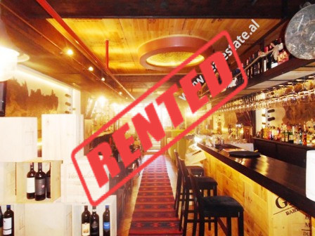 Bar for rent in Sulejman Delvina street in Tirana.  The bar is situated on the underground floor o