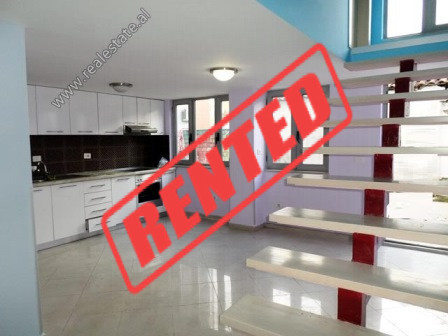 Dupleks apartment for rent in 4 Deshmoret Street in Tirana.